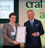 Wendy Shorter with HRH The Prince of Wales
